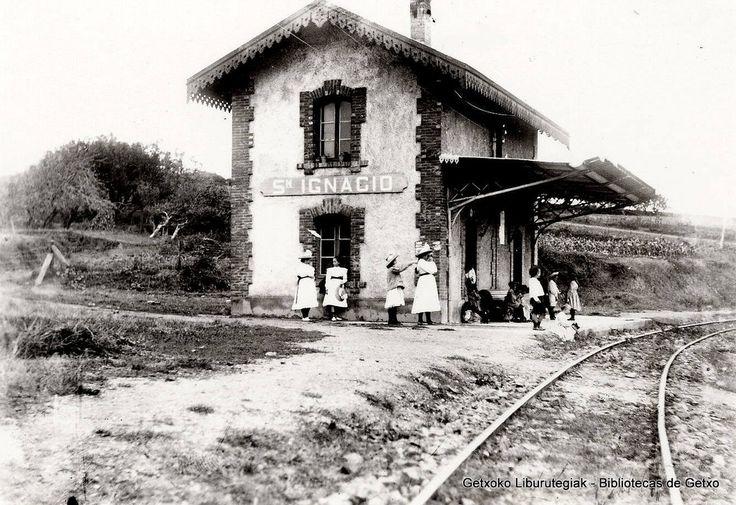 Estación del ferrocarril de San Ignacio (primitiva estación de Neguri), 1897 (ref. SN00986)