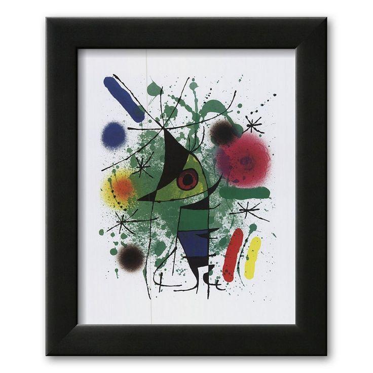 Art.com Singing Fish Framed Art Print by Joan Miró, Multicolor