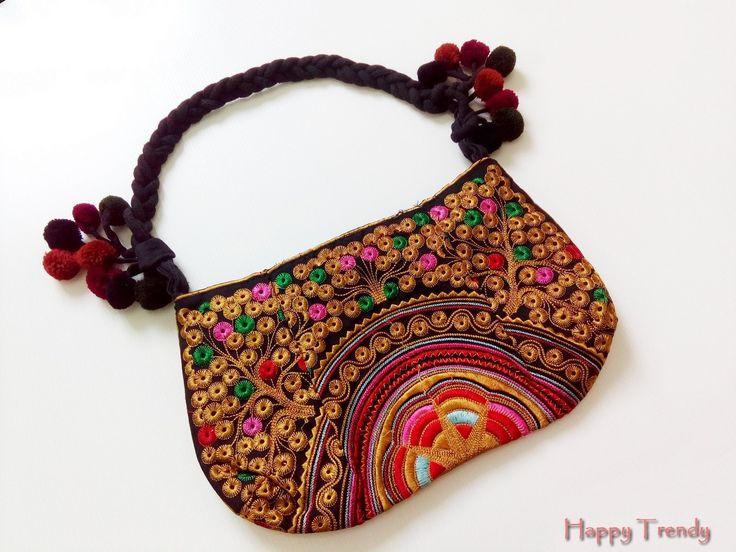 Multi color woman handbag by HappyTrendy on Etsy