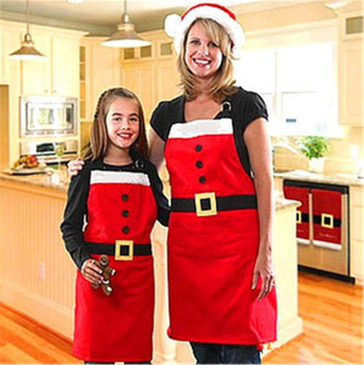 2016 new year Christmas Santa Claus Apron Christmas Decorations for Home Red Cloth Adult Pinafore Noel Decoration #>=#>=#>=#>=#> Click on the pin to check out discount price, color, size, shipping, etc. Save and like it!