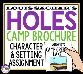 HOLES BY LOUIS SACHAR ACTIVITY: HOLES CAMP GREEN LAKE BROCHUREIn Louis Sachar's novel, Holes, Stanley is being punished for a crime he didn't commit at Camp Green Lake. Use this creative assignment as a way for your students to examine this setting (and some of the characters) in detail!