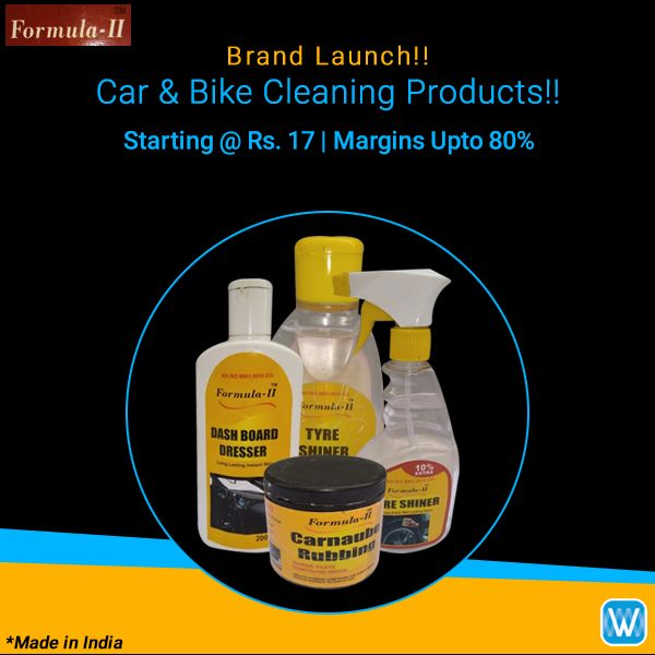 Retailers, buy car cleaning products in bulk from Formula-II - New Brand on #Wydr Wholesale E-Commerce. SuperFast Delivery! Assured WydrCash. Order now!