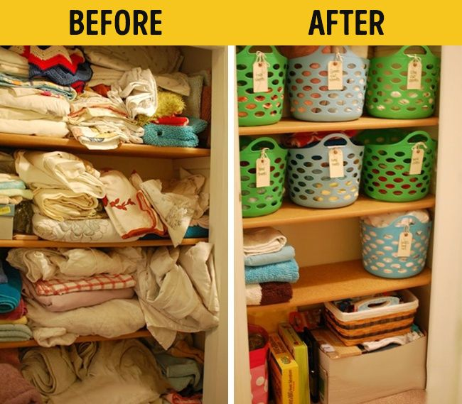 It's easy to make life at home a whole lot more comfortable. Organization before and after inspiration.