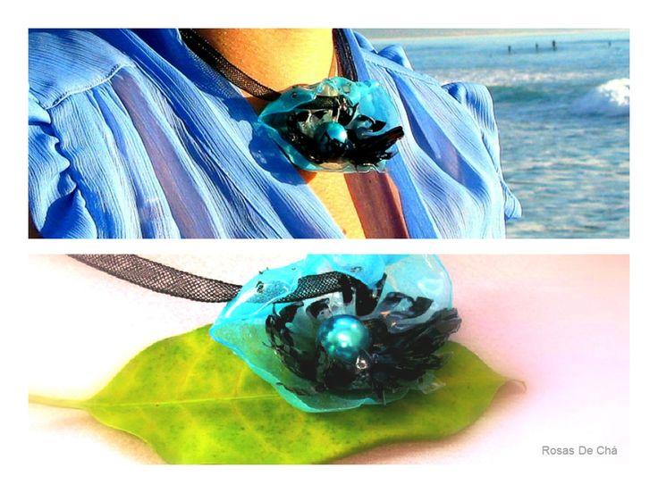 rosas de cha - #134 Eco Friendly Necklace, Artisan Pendant | Eco Colar
