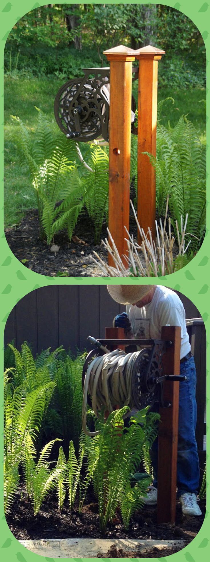 Hose Reel And Posts On Pinterest