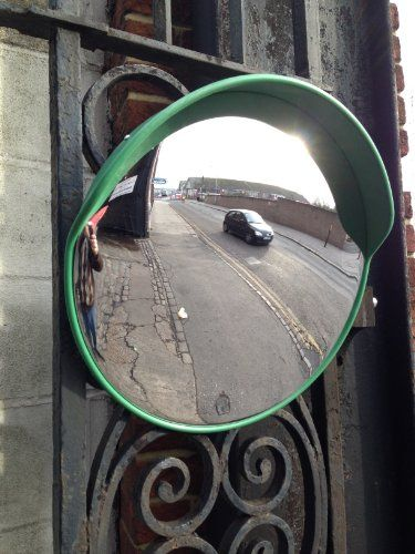 """45cm(18"""") Convex Driveway Traffic Mirror (Green) - http://www.cheaptohome.co.uk/45cm18-convex-driveway-traffic-mirror-green/?utm_source=PN&utm_medium=Manasak&utm_campaign=SNAP%2Bfrom%2BBestseller  45cm(18″) Convex Driveway Traffic Mirror (Green) Short Description POLYCARBONATE  CONVEX MIRROR   18″ / 45cm NEW  'COUNTRYSIDE FRIENDLY'  GREEN  SUPER VISION MODEL Watch a short video of the mirror. http://youtu.be/sgyPPEhygIM Introducing our new low convex"""