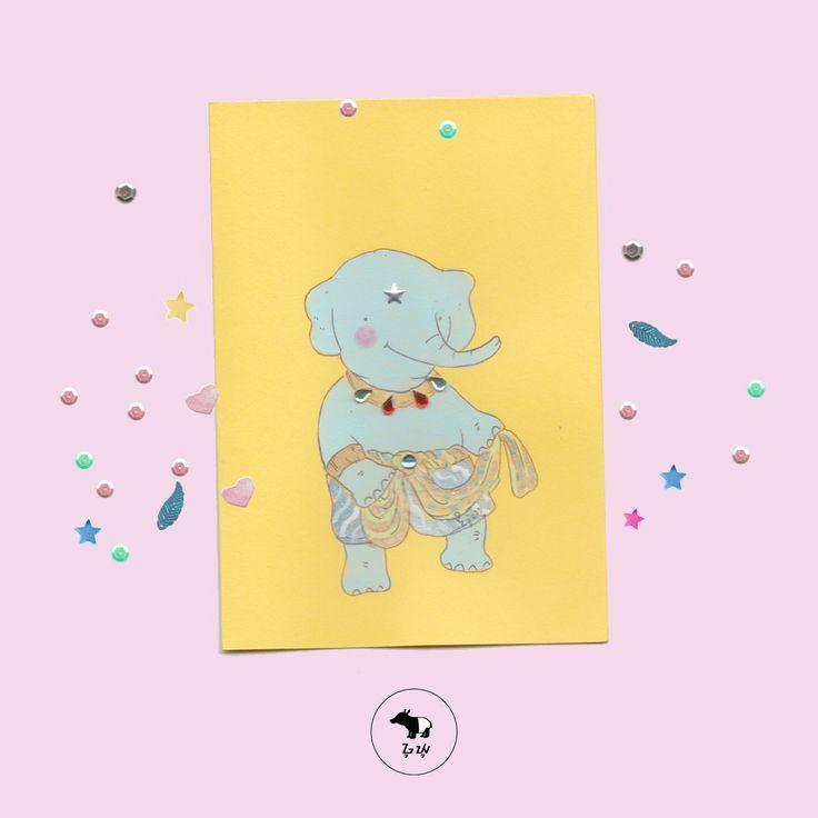 Giri sang penari, melenggak-lenggok walau belum profesional. Yang penting mencintai apa yang kita lakukan. :)   #guyu #greetingcard #kartusayang #illustration