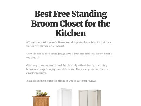 Portable Free Standing Broom Closet for the Kitchen