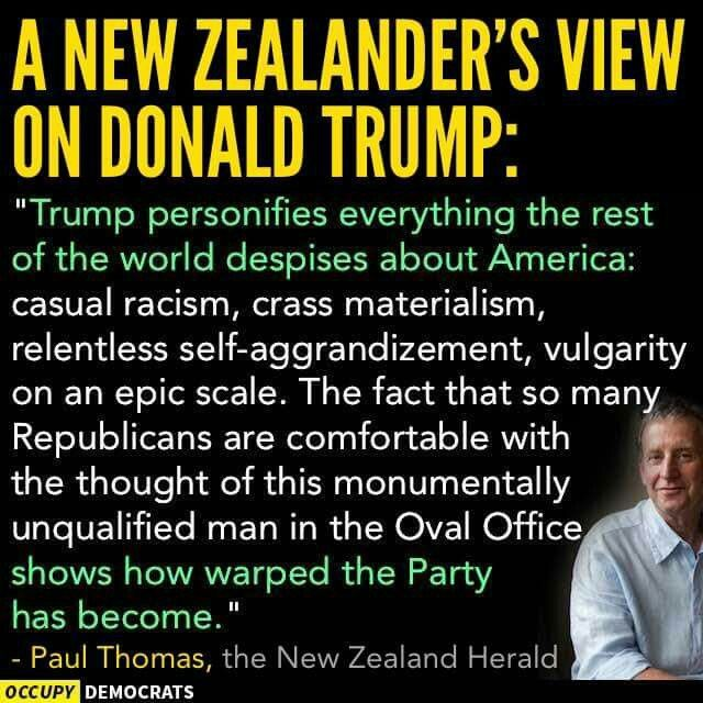 Even Before Trump, America was on its way to becoming the laughing stock of the world. Now, because of his (shiver/shudder) popularity...We are looking like the GOSH DARN FREAKING INBRED VILLAGE IDIOT.