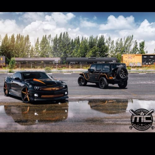347da31e98ed  TBT The Dynamic Duo Matching combo of Chevy Camaro and Jeep Wrangler built  for  cocobalentien and  HenryUrrutia  mc  mccustoms  mccustomsmia…
