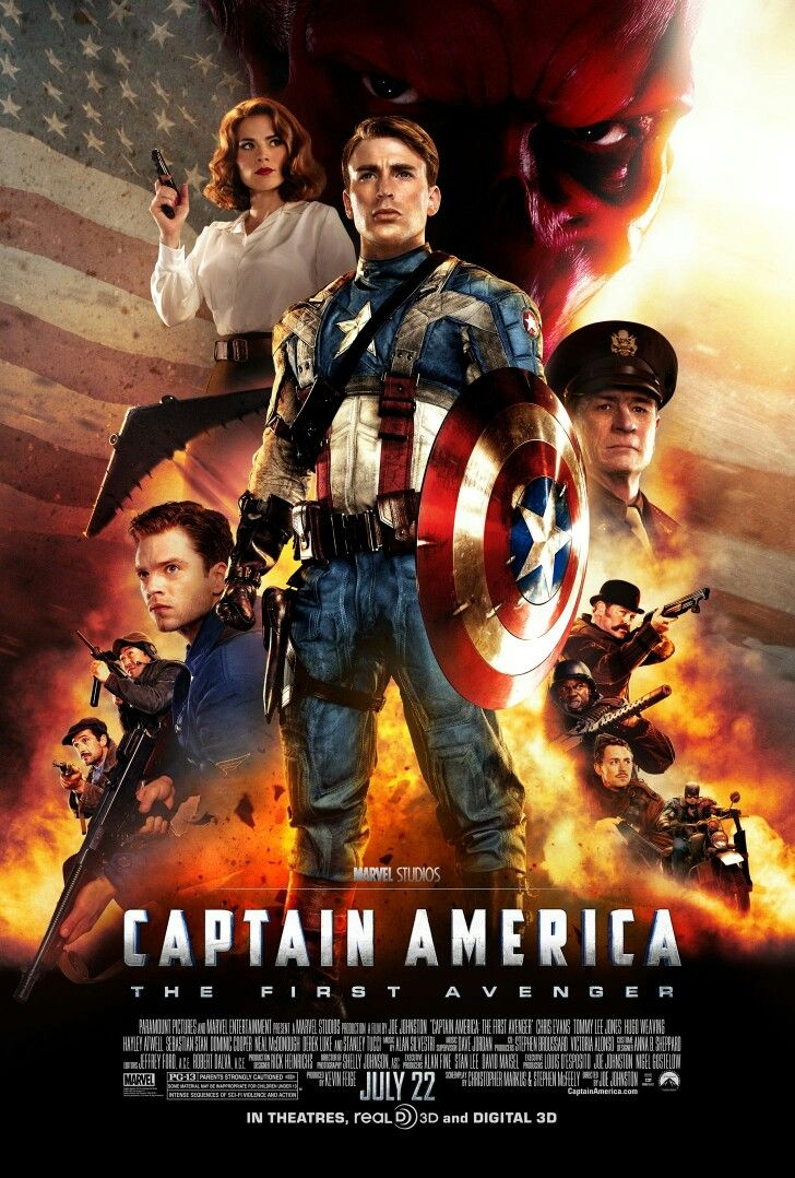 Captain America The First Avenger 2011 Posteres De Filmes