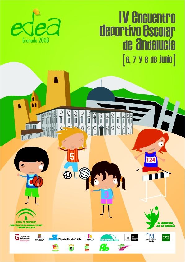 reatividad para el IV encuentro deportivo escolar de Andalucía. Junta de Andalucía. Más en http://www.lacaseta.com/consejeria-de-educacion-junta-de-andalucia/ #Diseno #Design #ideas #Creatividad