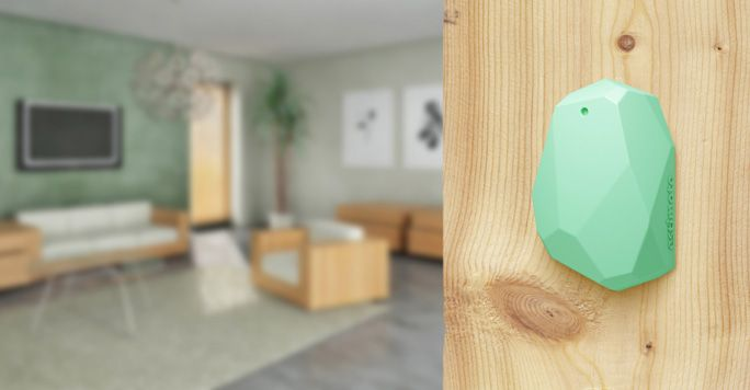 Estimote Beacons  Real world context for your apps. Simply stick our tiny sensors in any physical place,  such as your retail store and your app users will benefit from personalized micro-location based notifications and actions when they walk in to your venue or interact with your products.