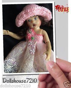 "Crochet&Lace Dress and Hat for 7.5-8"" Kish Riley Helen Kish,Tonner BJD,Fairyland | eBay"