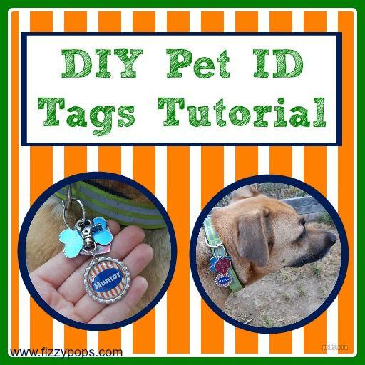 Diy Pet Id Tags Diy Dog Collar Dog Tags Diy Diy Stuffed Animals
