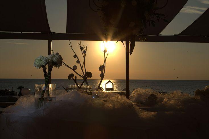 Tramonto #matrimonio in spiaggia