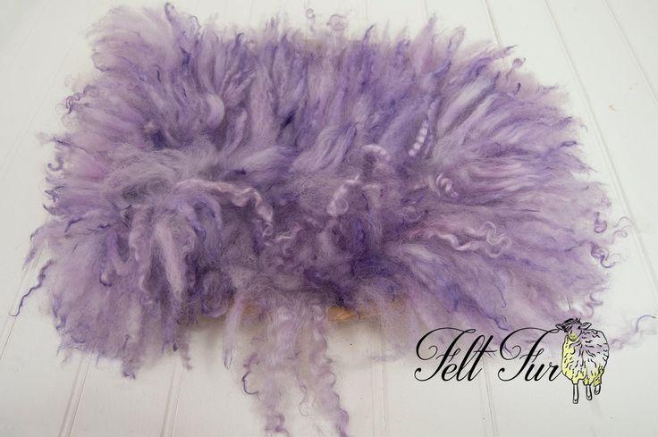 Gorgeous Lilac felt fur. Newborn wool prop