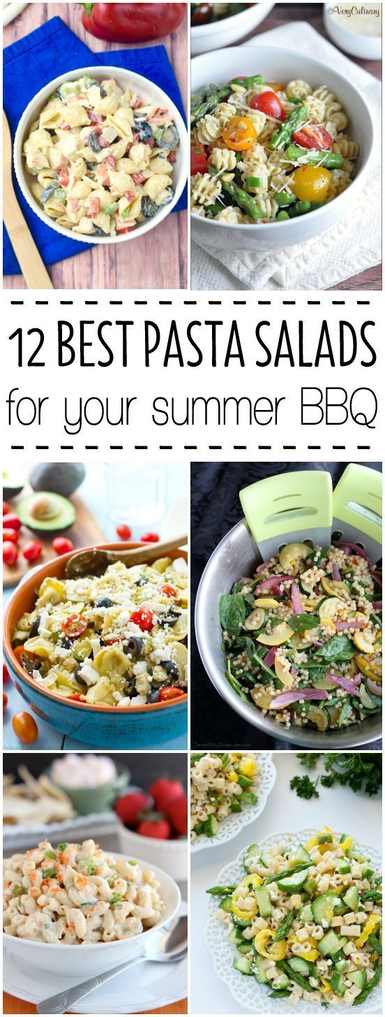 12 BEST Pasta Salads For Your Summer BBQ - With Hawaiian, Mediterranean, and Greek-style recipes, to pasta salads with veggies, cheese, and even bacon, you're sure to find something delicious to try. These are THE pasta salads that will have your guests lining up for seconds!