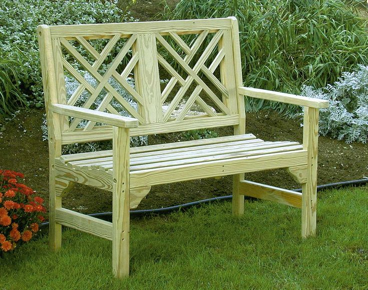 Treated Pine Chippendale Garden Bench