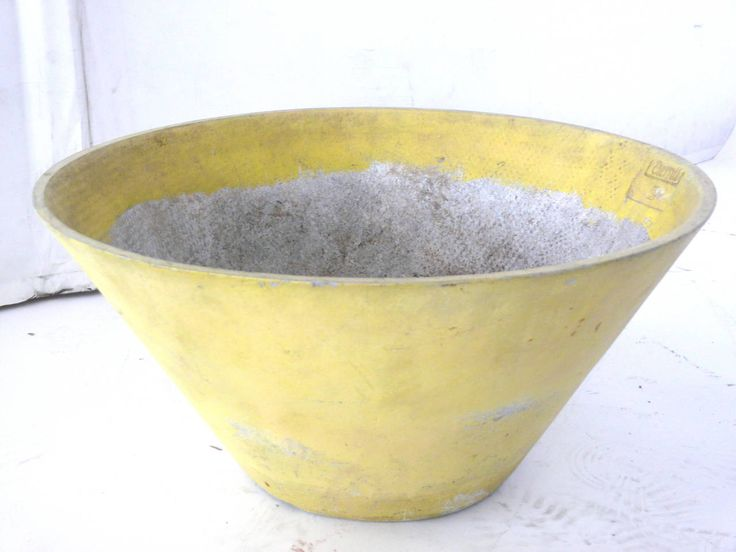 orange cement planter | Architectural Pot by Willy Guhl at 1stdibs
