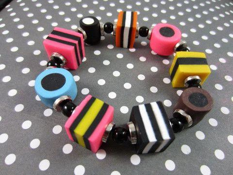 Licorice allsorts bracelet - Bijoux Jewellery & Bead Store