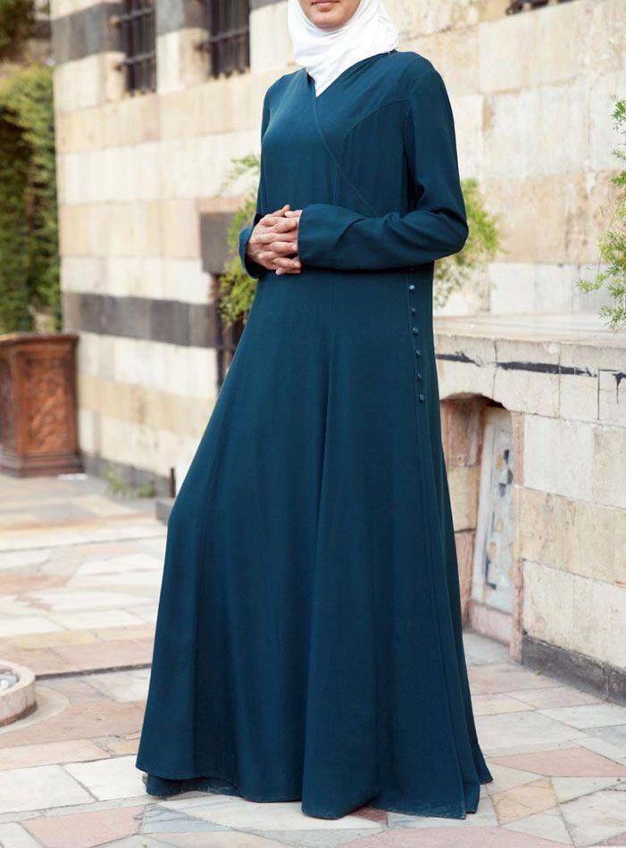 Jubah Shumairah Turqoise | Bella Aqsa | Muslimah, Muslim, Kids & Infants Clothing Online Store