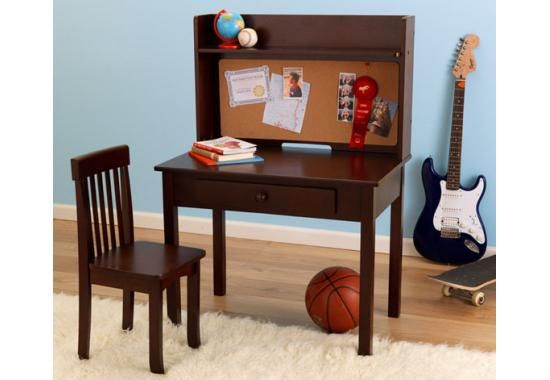 Kid Kraft Table and Chairs - Pinboard Desk with Hutch & Chair- Kids Furniture for any Nursery or Kids Room - Tables & Chairs