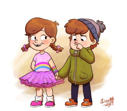 Young Mabel & Dip...aww SO cute!!!