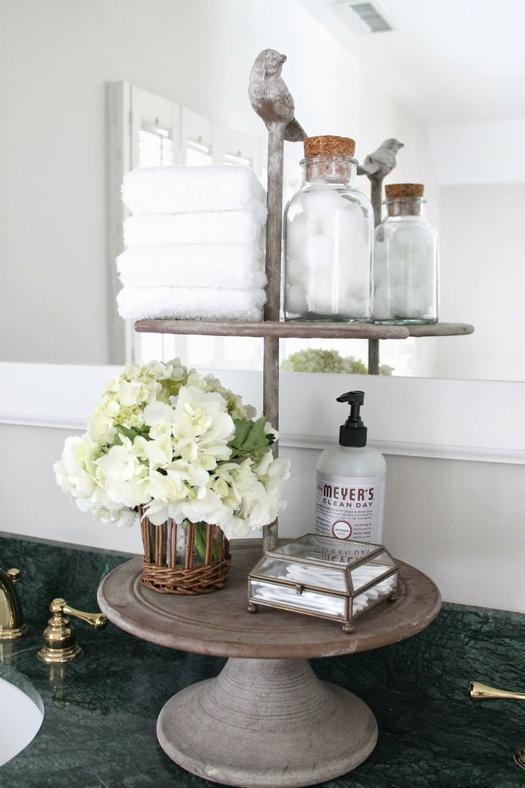 The picket fence projects refreshing rearranging house - How to decorate a bathroom counter ...