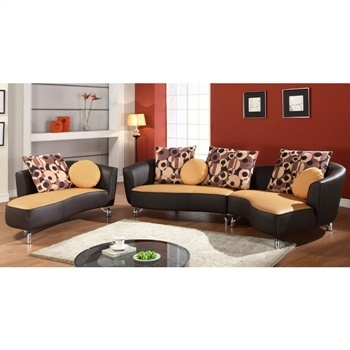 Dcg stores furniture albany two toned sectional sofa with for Albany saturn sectional sofa chaise