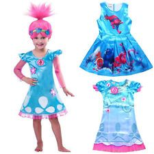 Girls Movie Trolls Poppy Fancy Dress CosplayParty Princess Costume Outfit Lot