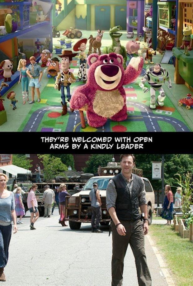 Undeniable Proof That The Walking Dead And Toy Story Have The Exact Same Plot. This is great lol!