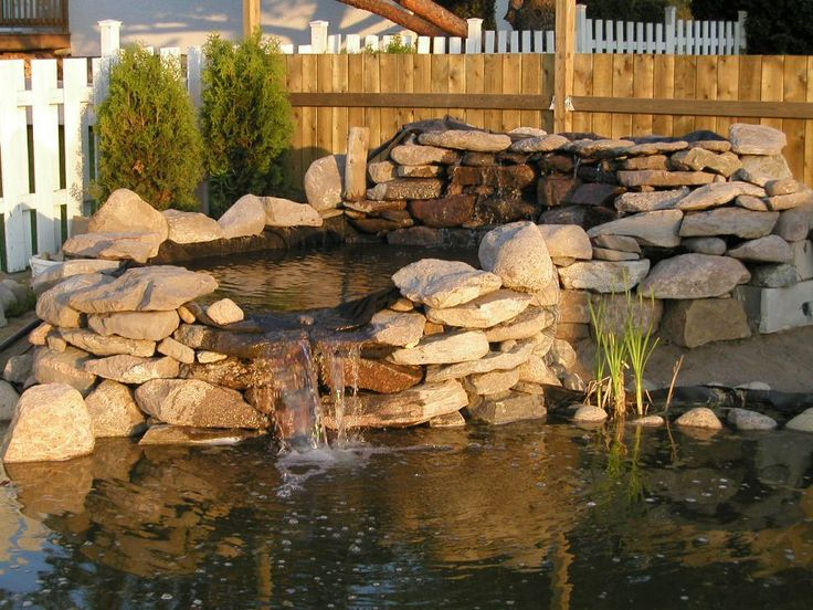 How to build pond waterfall and wall waterfalls with for Making a pond waterfall