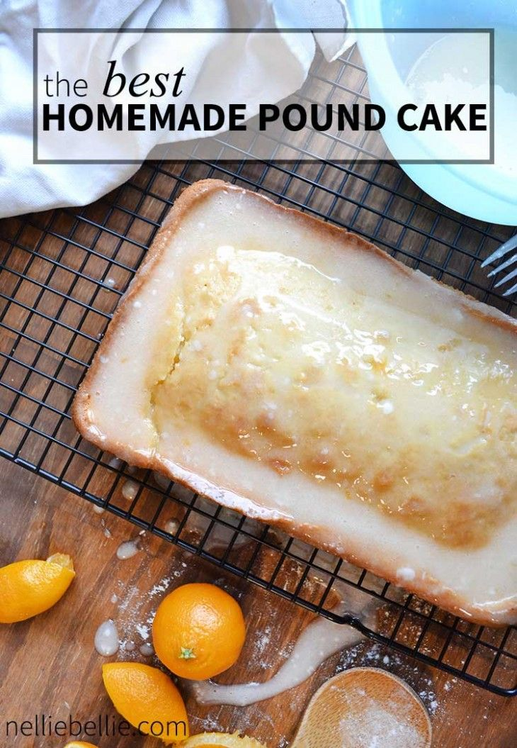 this is the BEST homemade pound cake recipe. Easy to make and perfect for your holiday's! | nelliebellie.com  cake, desserts, orange, homemade
