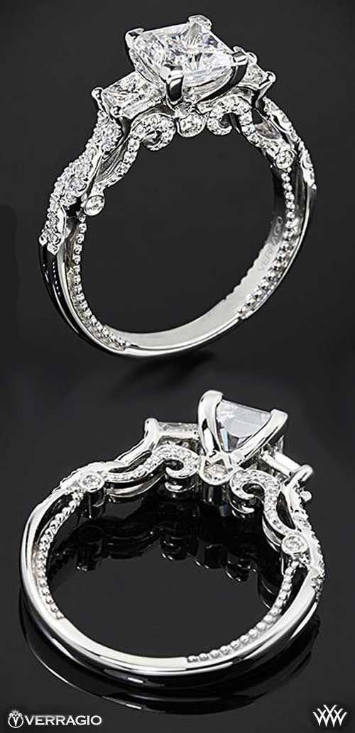 The Intricate Stylings Of Verragio Princess Cut Engagement Ring