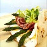 Piadina primavera (asparagi uova e pancetta).