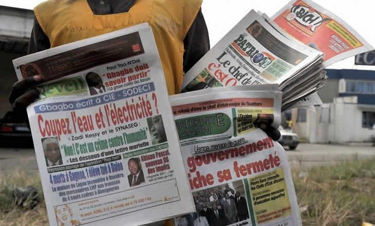 Côte d'Ivoire : La perturbation du transport et l'audience de Blé Goudé à la Une des journaux ivoiriens - 29/09/2014 - http://www.camerpost.com/cote-divoire-la-perturbation-du-transport-et-laudience-de-ble-goude-a-la-une-des-journaux-ivoiriens-29092014/?utm_source=PN&utm_medium=Camer+Post&utm_campaign=SNAP%2Bfrom%2BCamer+Post