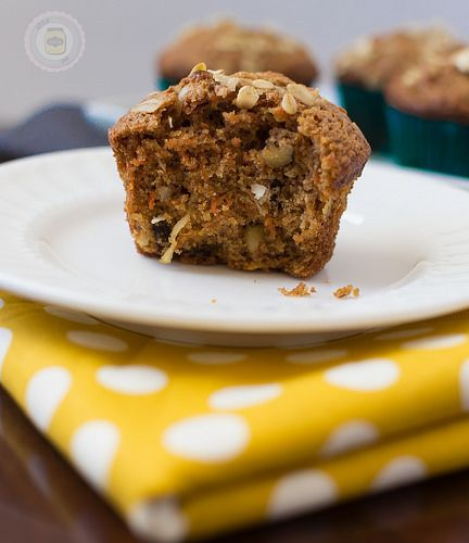 Super Moist and Healthy Carrot Cake Muffins Bite Taken by littlespicejar, via Flickr