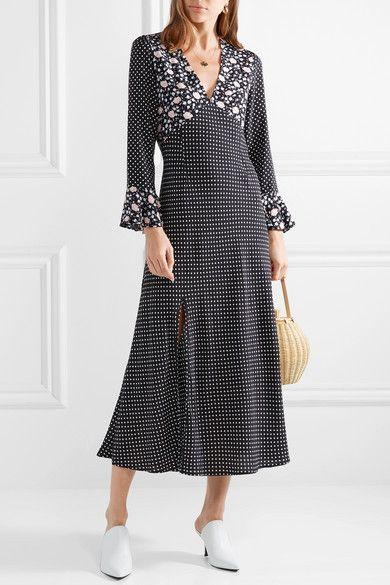 2c53a827793 RIXO - Esther polka-dot crepe midi dress in 2019