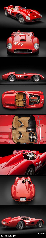 1957 Ferrari 625 TRC Spider. Source: RM Auctions  Para saber más sobre los coches no olvides visitar marcasdecoches.org