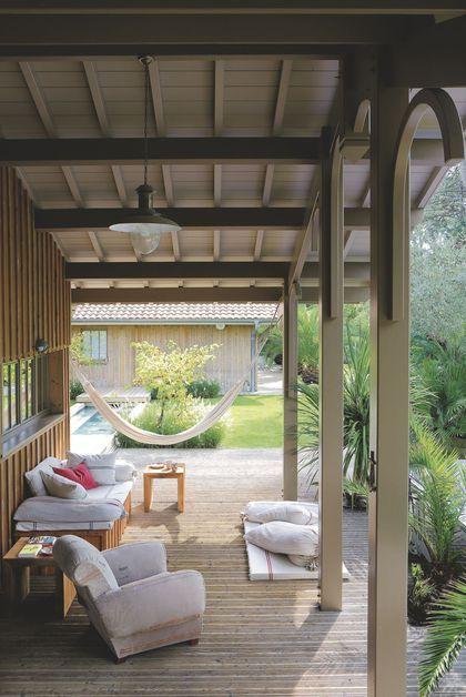 Une terrasse qui abrite la suite parentale