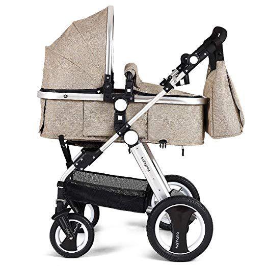 Babyjoy Baby Stroller Aluminum 2 In 1 Foldable Toddler Stroller