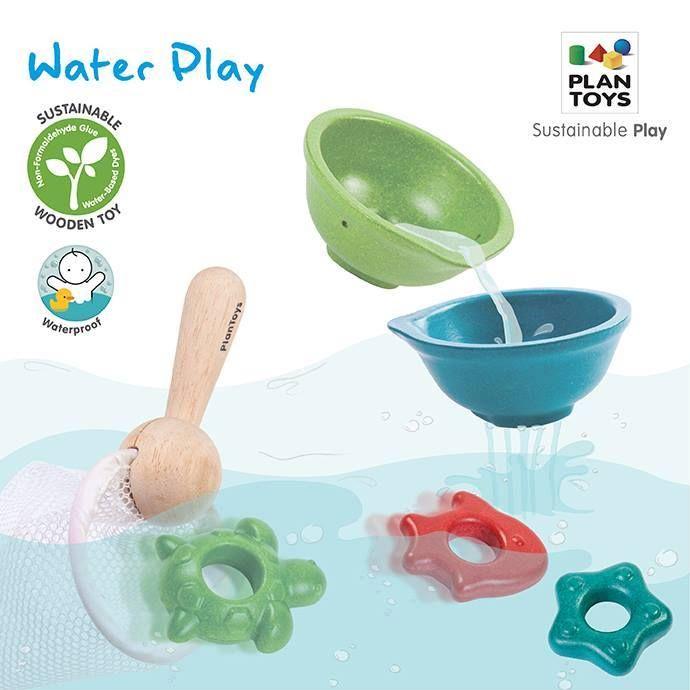 Set με ξύλινα παιχνίδια που επιπλέουν στο νερό, σίτα και απόχη: Από τη νέα σειρά της Plan Toys για το 2014
