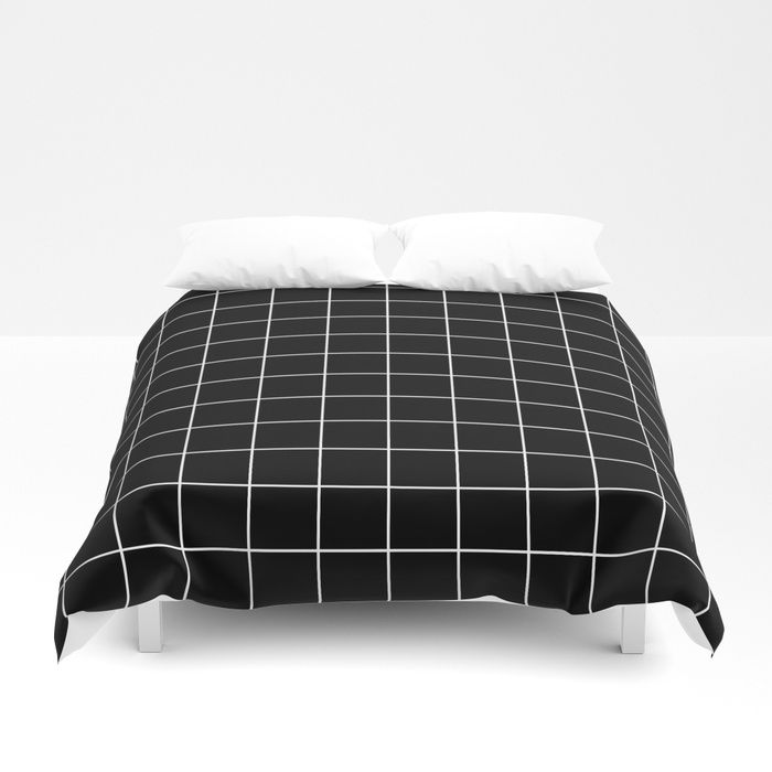 Buy Grid Simple Line Black Minimalistic Duvet Cover by beautifulhomes. Worldwide shipping available at Society6.com. Just one of millions of high quality products available.