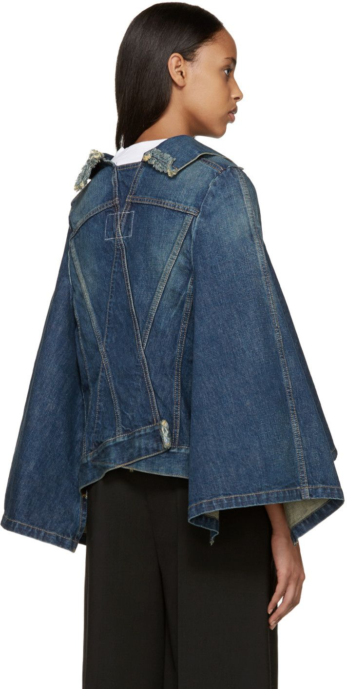 New-yesterday - Junya Watanabe - Indigo Denim Cape Jacket Clothing, Shoes & Jewelry : Women : Clothing :  http://amzn.to/2jHcXki