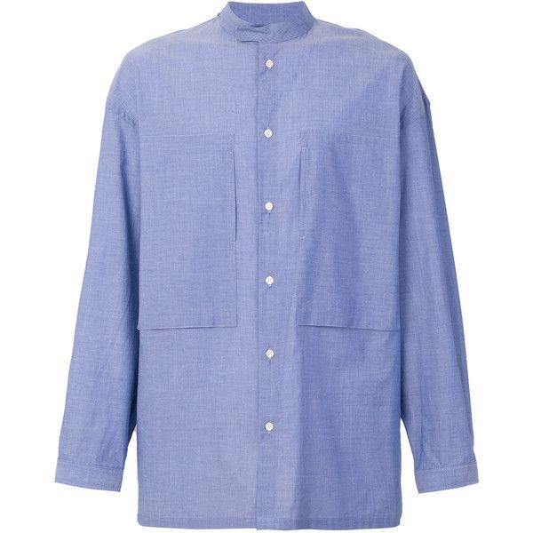 E. Tautz Lineman shirt (19.940 RUB) ❤ liked on Polyvore featuring men's fashion, men's clothing, men's shirts, men's casual shirts, blue and mens blue shirt