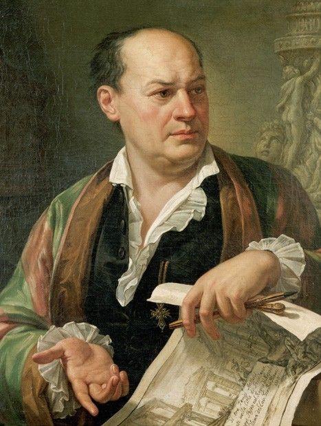 Pietro Labruzzi portrait of Giovanni Battista Piranesi - 1779