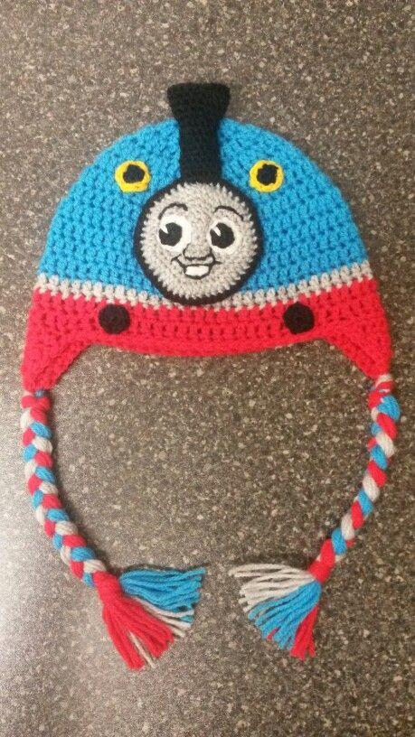 Crochet Thomas the tank engine train hat