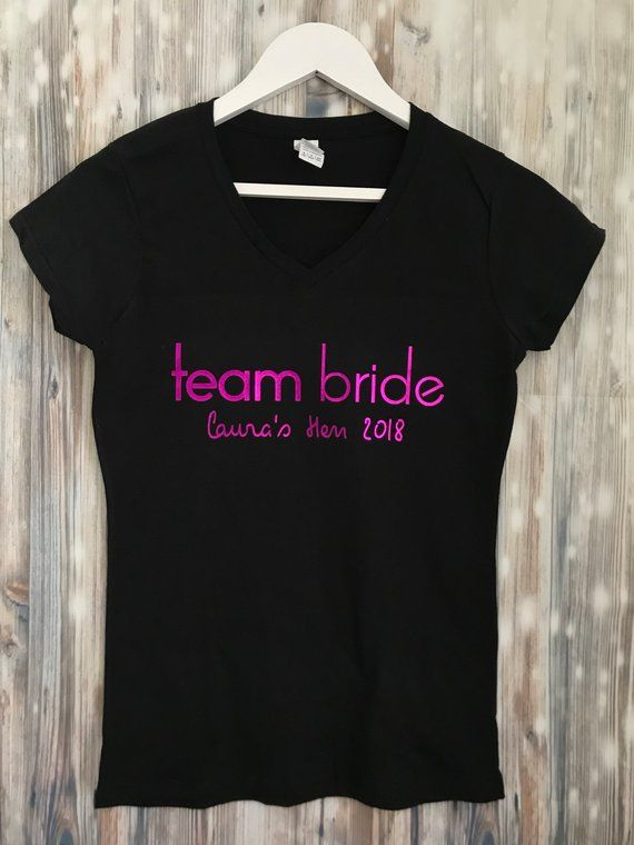 be912bf4 These beautiful love island inspired Team Bride Hen do T-shirts are  Personalised and made just for you! Text colours are in the drop down menu  - Metallic ...
