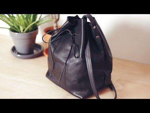 DIY Leather Bucket Bag ⎪ Elle Frost